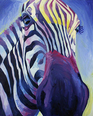 Abstract Zebra Painting - Untitled by Julia Pappas