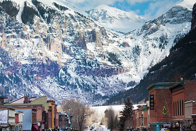 Usa, Colorado, Telluride, Main Street Print by Walter Bibikow