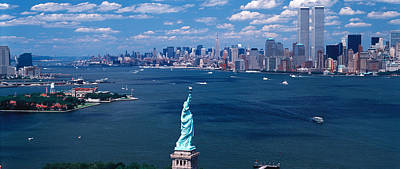 Ellis Island Photograph - Usa, New York, Statue Of Liberty by Panoramic Images