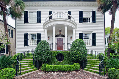 Front Steps Photograph - Usa, Sc, Charleston, Historic District by Rob Tilley