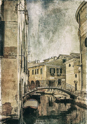 Historical Bridge Digital Art - Venice Back In Time by Julie Palencia