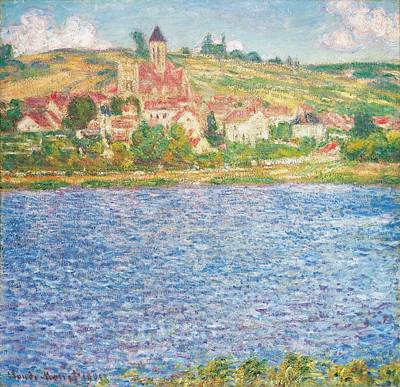 Townscape Painting - Vetheuil by Claude Monet