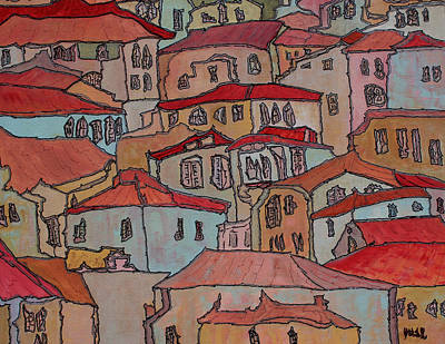 Painting - Village by Oscar Penalber