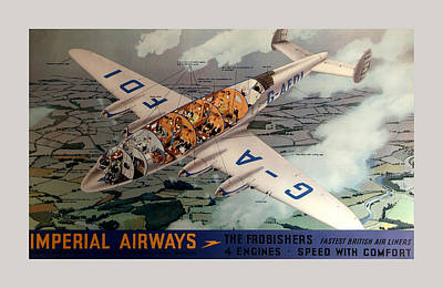 Vintage Airline Ad 1939 Print by Andrew Fare
