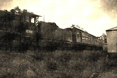 Australian Photograph - Vintage Train by Andrew Hunt