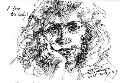 Sketch Drawing - Viola by Ylli Haruni