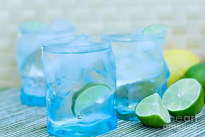 Water In Blue Print by Iris Richardson