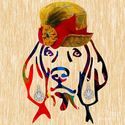 Dogs Mixed Media - Weimaraner Collection by Marvin Blaine
