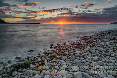 Pebbles Digital Art - Welsh Sunset by Adrian Evans