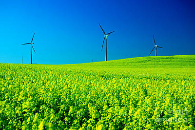 Change Photograph - Wind Turbines. by Michal Bednarek