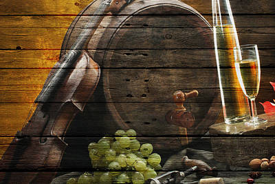 Wine Print by Joe Hamilton