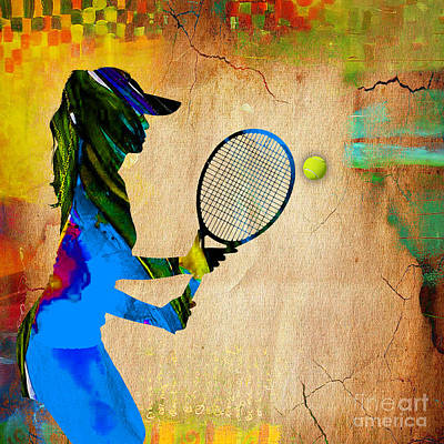 Womens Tennis Print by Marvin Blaine