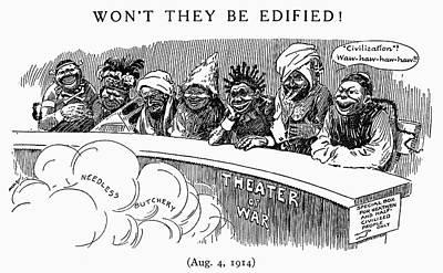 Anti-war Painting - World War I Cartoon, 1914 by Granger