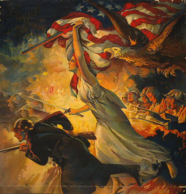 Liberty Painting - World War I Poster, C1918 by Granger