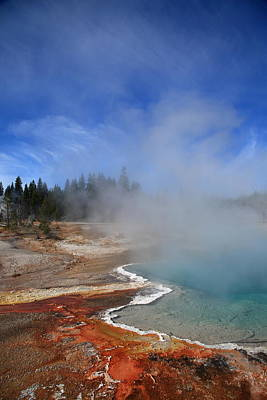 Yellowstone Park Geyser Print by Frank Romeo