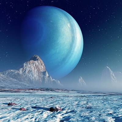 Alien Planetary System Print by Detlev Van Ravenswaay