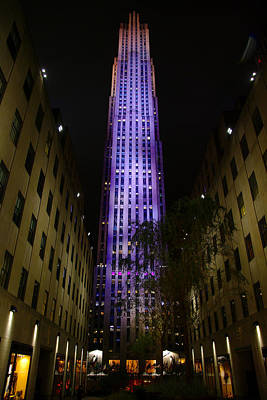 Nyc Photograph - 30 Rock At Night by Larry Jost