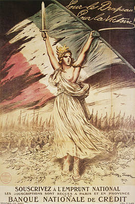 Patriotism Painting - World War I French Poster by Granger