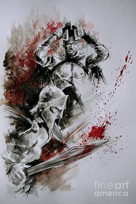 300 Spartan - Death And Glory. Print by Mariusz Szmerdt