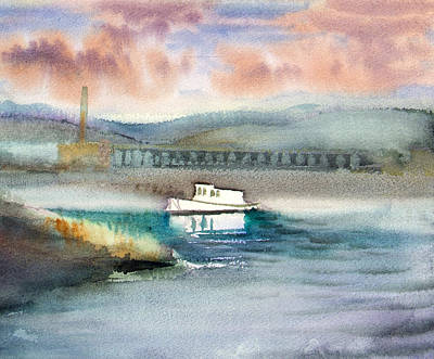 Gig Painting - Calm Waters by Robert Poole