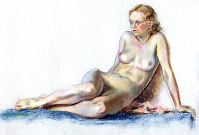 Painted Ladies Painting - Blue Velvet by Robert Poole