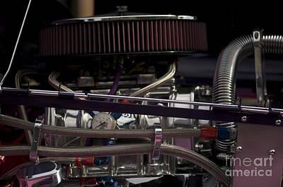 '31 Crown Victoria Engine Print by Sean Stauffer
