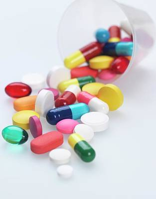 Healthcare And Medicine Photograph - Pills by Tek Image