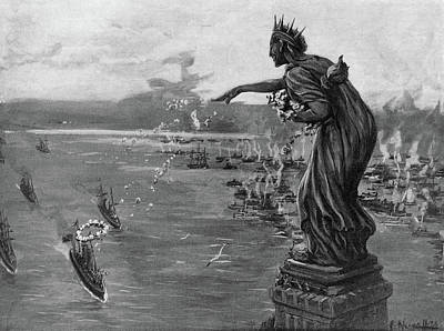 Statue Of Liberty Drawing - Spanish-american War, 1898 by Granger