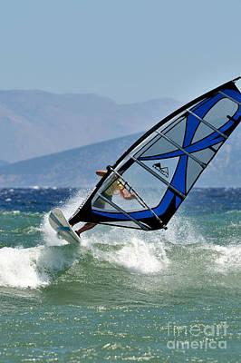 Sports Photograph - Windsurfing by George Atsametakis