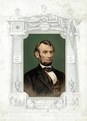 Lincoln Memorial Painting - Abraham Lincoln (1809-1865) by Granger
