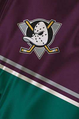 Anaheim Ducks Print by Joe Hamilton