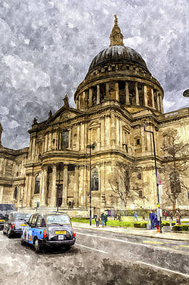 Wren Digital Art - St Paul's Cathedral London by David Pyatt