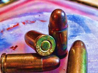 Cartridge Digital Art - Bullet Art Color 3415 by Lesa Fine