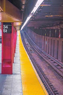 Metro Art Photograph - 34th Street Subway Station - New York City by Ben and Raisa Gertsberg