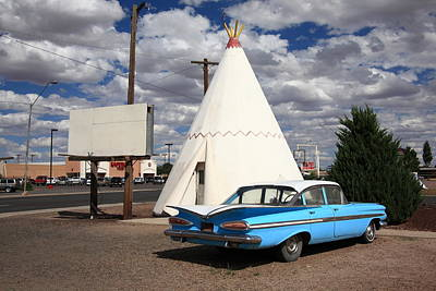 Route 66 - Wigwam Motel Print by Frank Romeo