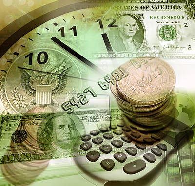 Banknotes Photograph - Time Is Money  by Les Cunliffe