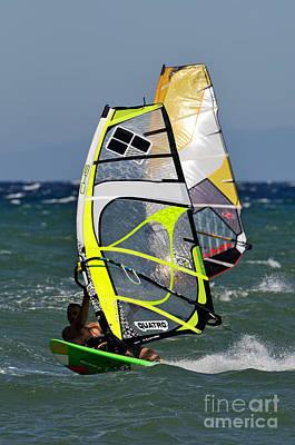 Action Photograph - Windsurfing by George Atsametakis