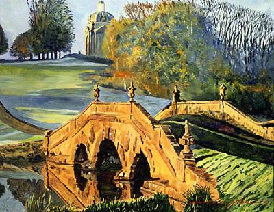 Cupola Painting - 355 Ancient English Bridge by David Lloyd Glover