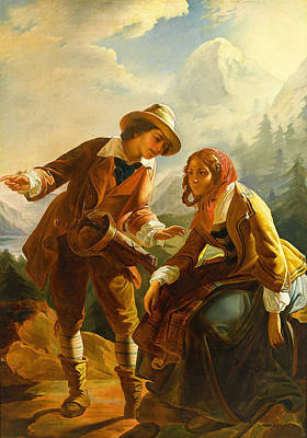 Old Painting - Old Woman With A Muff Second Half 18th Century by MotionAge Designs