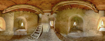 Romania Photograph - 360 Degree Interior View Of Prejmer by Panoramic Images