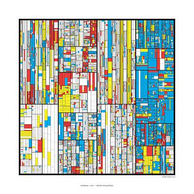 3628 Digits Of Pi Print by Martin Krzywinski