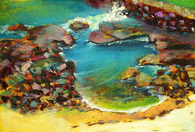 Kaloko Tide Pool Print by Richard Rochkovsky