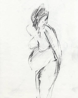 Dancers Drawing - Rcnpaintings.com by Chris N Rohrbach
