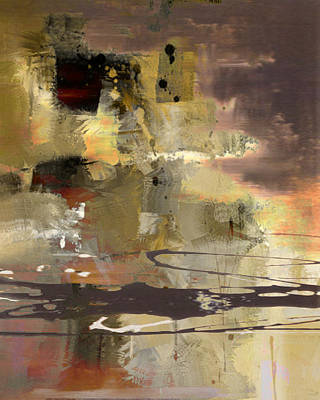 Drips Painting - Abstract by Lee Ann Asch