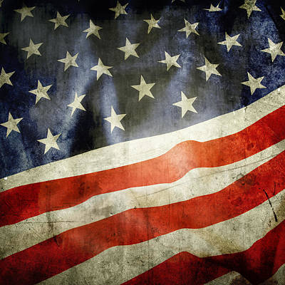 Textures And Colors Photograph - American Flag by Les Cunliffe