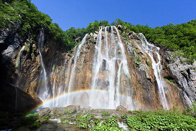 The Plitvice Lakes In The National Park Print by Martin Zwick