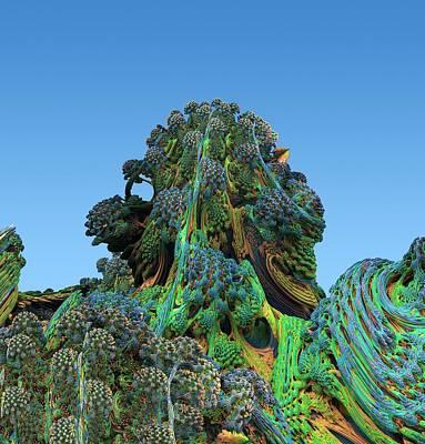 Fractal Geometry Photograph - 3d Fractal Landscape by David Parker