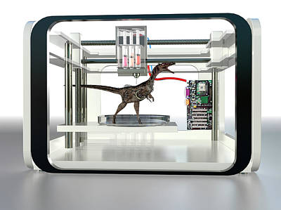 Extinct Reptile Photograph - 3d Printed Dinosaur by Christian Darkin