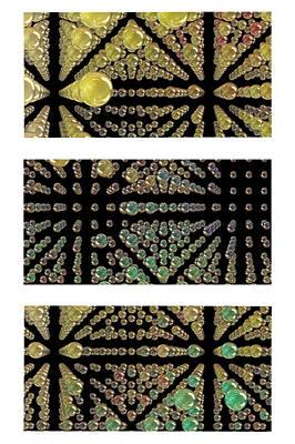 3d Spheres Print by Susan Leggett