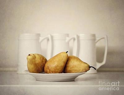 Pear Digital Art - 3x3 by Diana Kraleva